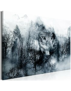 Tableau MOUNTAIN PREDATOR WIDE BLACK AND WHITE
