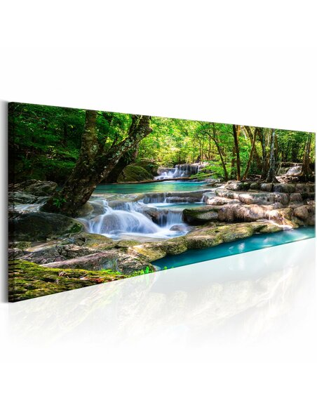 Tableau NATURE FOREST WATERFALL