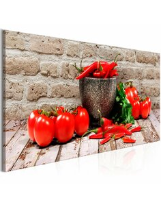 Tableau RED VEGETABLES BRICK NARROW