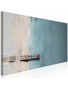 Tableau SEA AND WOODEN BRIDGE NARROW GREY