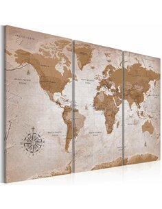 Tableau VINTAGE MAP ORIENTAL TRAVELS