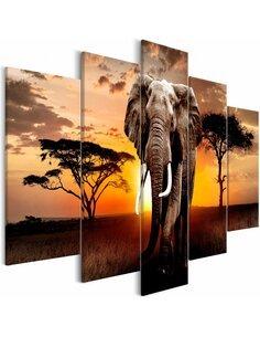 Tableau WANDERING ELEPHANT WIDE