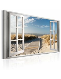 Tableau WINDOW VIEW OF THE BEACH