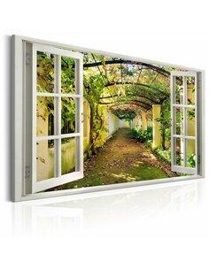 Tableau WINDOW VIEW ON PERGOLA