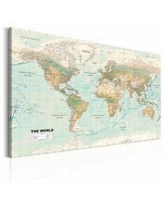 Tableau WORLD MAP BEAUTIFUL WORLD