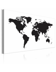 Tableau WORLD MAP BLACK & WHITE ELEGANCE