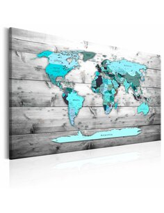 Tableau WORLD MAP BLUE WORLD