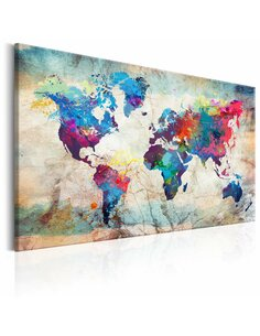 Tableau WORLD MAP COLOURFUL MADNESS