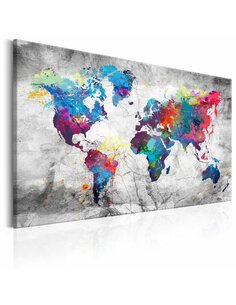 Tableau WORLD MAP GREY STYLE