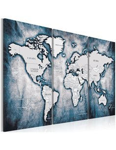 Tableau WORLD MAP INK TRIPTYCH