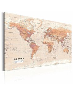 Tableau WORLD MAP ORANGE WORLD