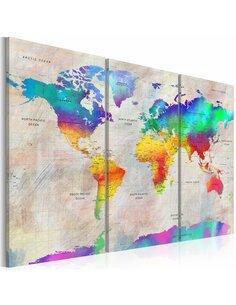 Tableau WORLD MAP RAINBOW GRADIENT