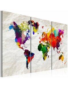 Tableau WORLD MAP RAINBOW MADNESS II
