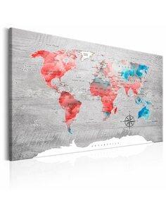 Tableau WORLD MAP RED ROAM