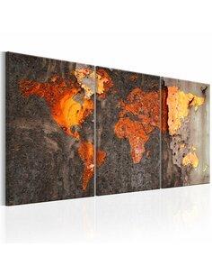 Tableau WORLD MAP RUSTY WORLD