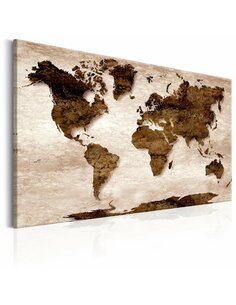 Tableau WORLD MAP THE BROWN EARTH