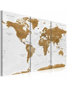 Tableau WORLD MAP WHITE POETRY