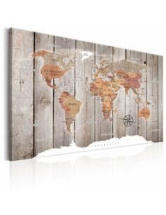 Tableau WORLD MAP WOODEN STORIES