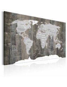 Tableau WORLD MAP WOODEN WORLD