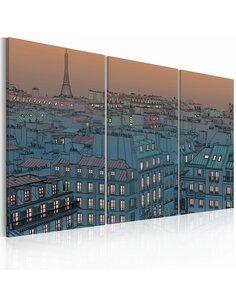 Tableau PARIS la ville se met en veille