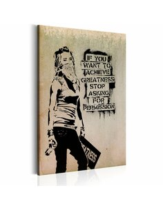 Tableau GRAFFITI SLOGAN BY BANKSY