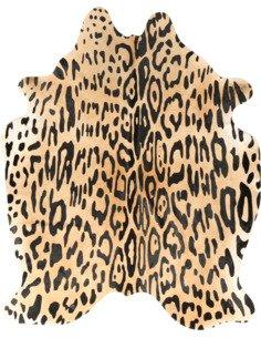 Peau de vache Amazon Jaguar  3-4m2 Jaune Noir
