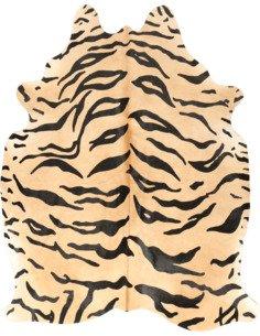 Peau de vache Safari Tigre  3-4m2 Jaune Noir