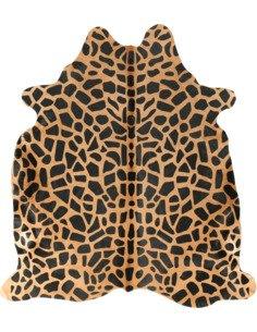 Peau de vache Safari Girafe  3-4m2 Jaune Noir