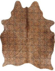 Peau de vache Safari Léopard  3-4m2 Jaune Noir
