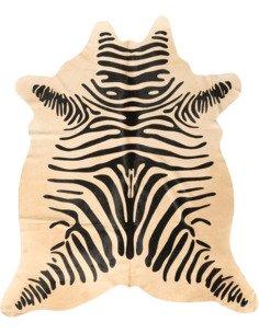 Peau de vache Safari Zèbre  3-4m2 Blanc Noir
