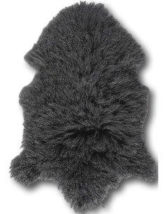 Peau d'agneau tibet Gris foncé
