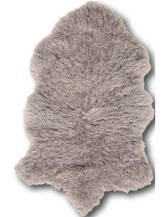 Peau d'agneau tibet Gris clair