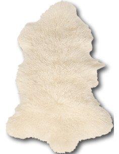 Peau d'agneau tibet Blanc