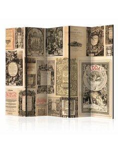 Paravent 5 volets VINTAGE BOOKS II