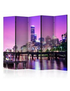 Paravent 5 volets PURPLE MELBOURNE II