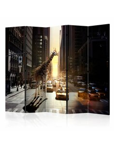 Paravent 5 volets GIRAFFE IN THE BIG CITY II