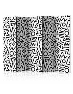 Paravent 5 volets BLACK AND WHITE MAZE