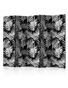 Paravent 5 volets BLACK AND WHITE JUNGLE