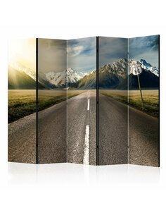 Paravent 5 volets THE LONG ROAD