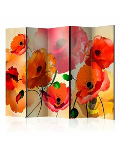 Paravent 5 volets VELVET POPPIES