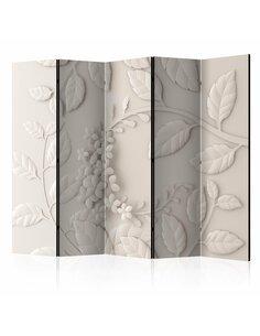 Paravent 5 volets PAPER FLOWERS BEIGE