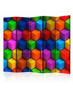 Paravent 5 volets COLORFUL GEOMETRIC BOXES