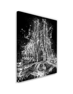 Tableau the Sagrada Familia in Barcelona imprimé sur toile