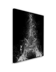Tableau Eiffel Tower at night imprimé sur toile