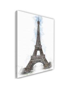 Tableau XXL Paris Image Decor artwork Brown imprimé sur toile