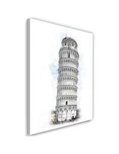 Tableau XXL Leaning Tower Image Decor imprimé sur toile