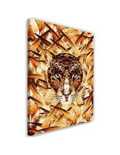 Tableau XXL cheetah Image animal print Orange imprimé sur toile
