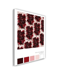 Tableau XXL leaves Image Decor exotic Red imprimé sur toile