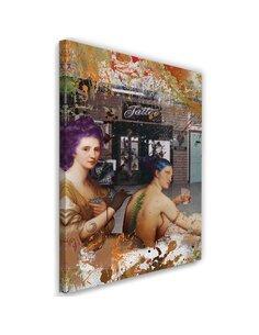 Tableau Picture Canvas XXL tattoo women Image Decor imprimé sur toile