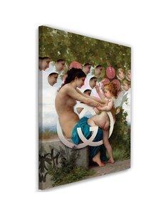 Tableau Picture Canvas XXL Girl and Cupid Image Decor imprimé sur toile